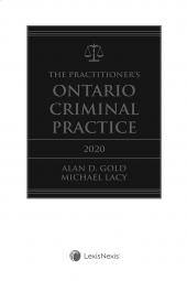 The Practitioner's Ontario Criminal Practice, 2020 Edition + E-Book cover