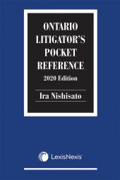 Ontario Litigator's Pocket Reference, 2020 Edition cover