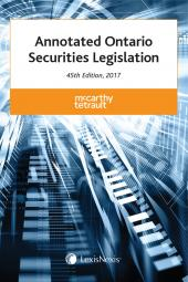 Annotated Ontario Securities Legislation, 45th Edition, 2017 img