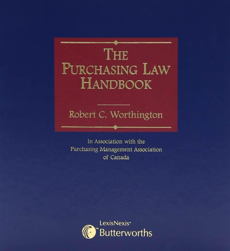 The Purchasing Law Handbook Lexisnexis Canada Store