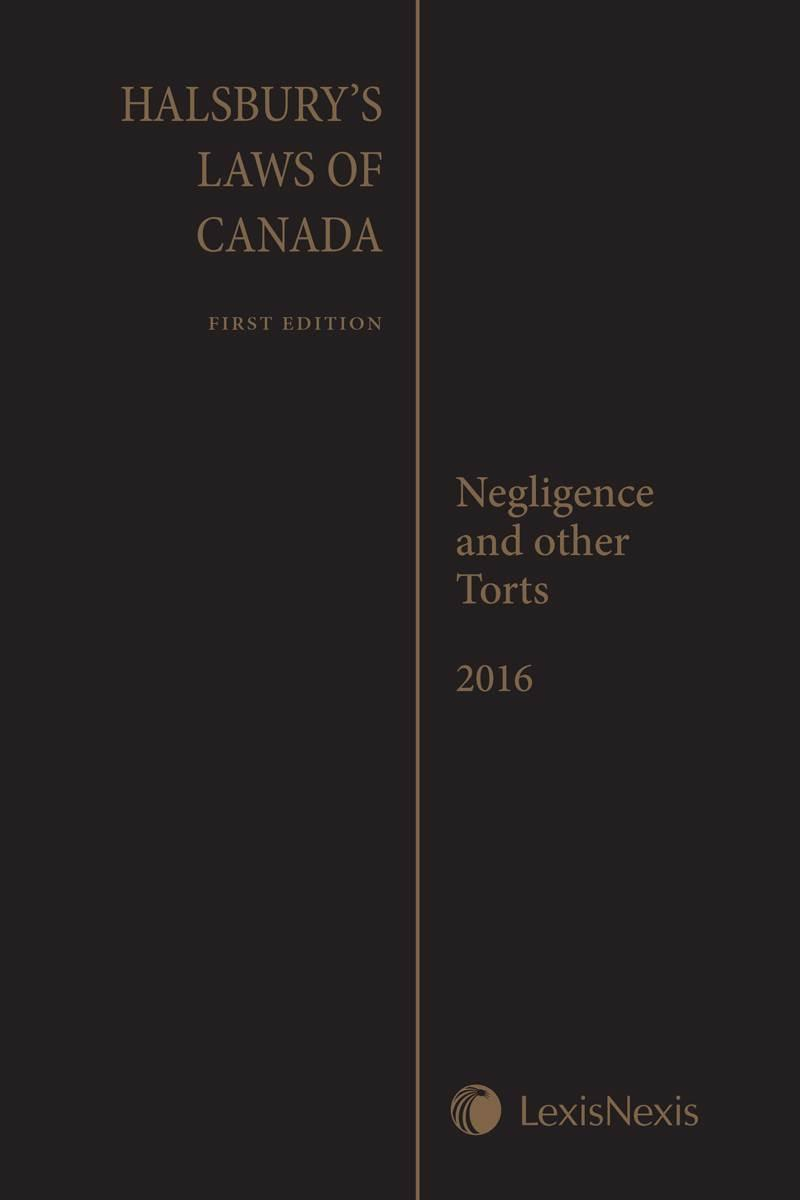 critical torts lexisnexis store halsbury s laws of negligence and other torts 2016 reissue cover