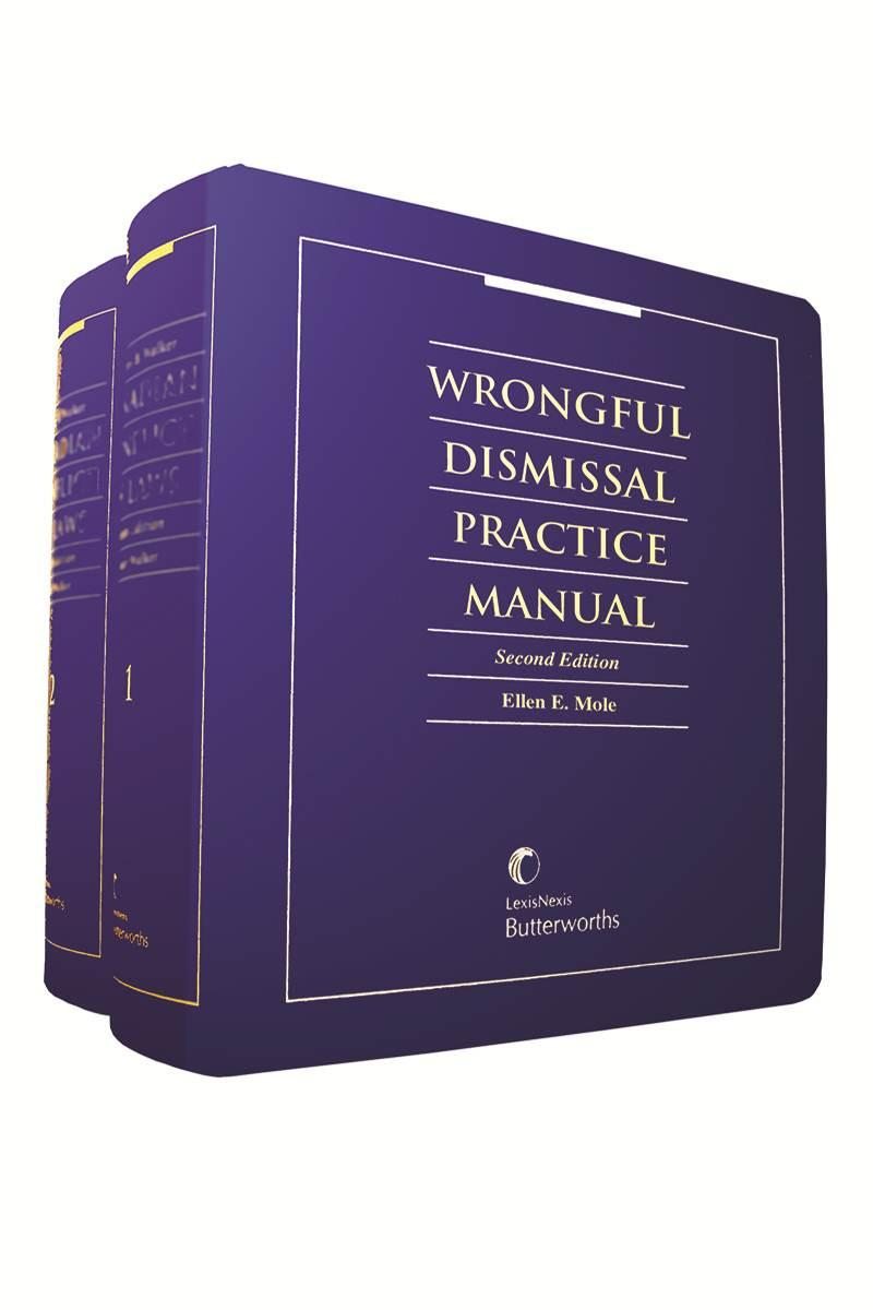 Wrongful Dismissal Practice Manual 2nd Edition cover