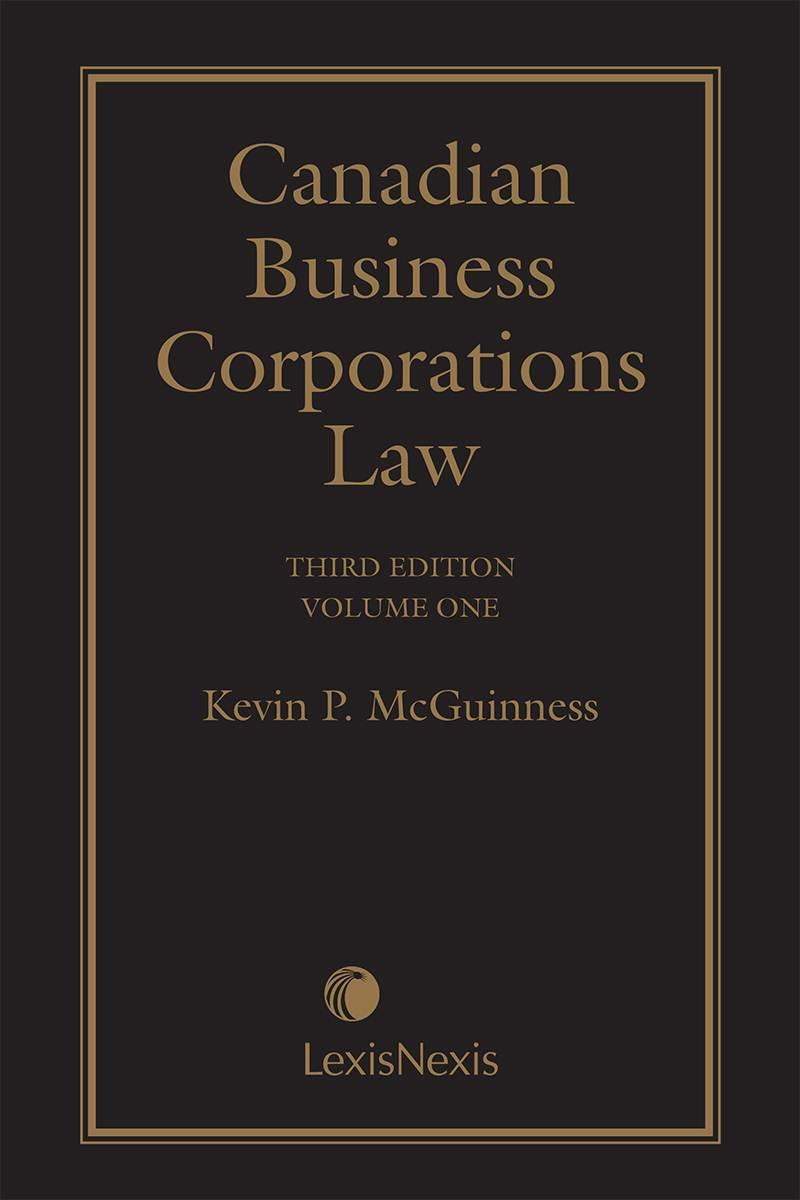 Canadian business corporations law 3rd edition volume 1 book fandeluxe Gallery