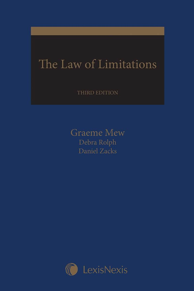 The Law Of Limitations 3rd Edition Lexisnexis Canada Store