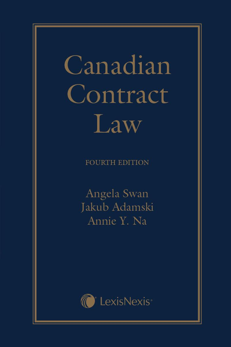 Canadian Contract Law 4th Edition Lexisnexis Canada Store