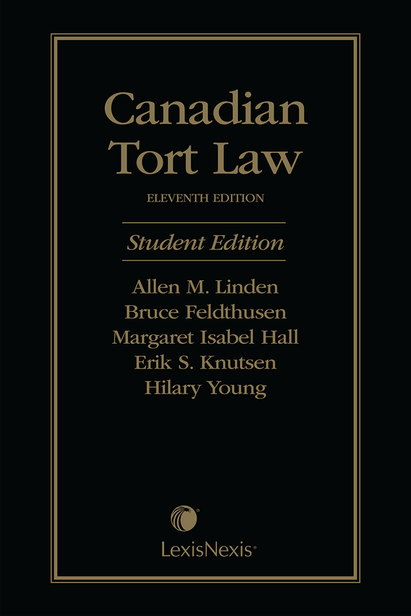 Canadian Tort Law, 11th Edition – Student Edition | LexisNexis